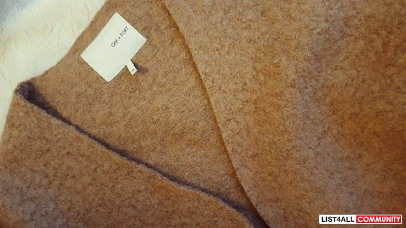 Oak + Fort Brown-Beige Cardigan Coat XS