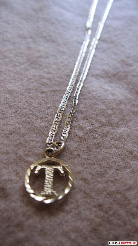 letter t necklace