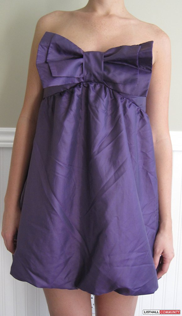 Purple Balloon Dress