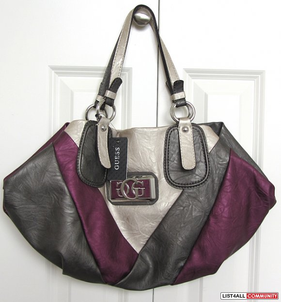 GUESS Dianne Purple Bag New with tag