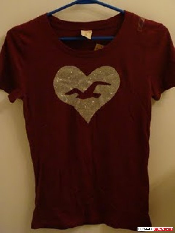Womens' HOLLISTER LOGO TEE - BRAND NEW -Size Medium