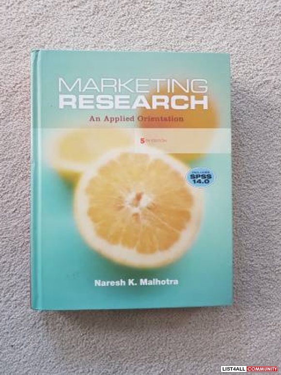 Marketing Research:An Applied Orientation (5th Ed)