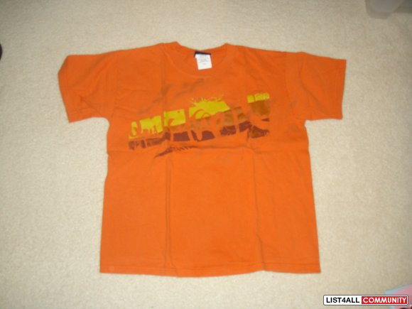 Orange Quicksliver Tee Size M Boys