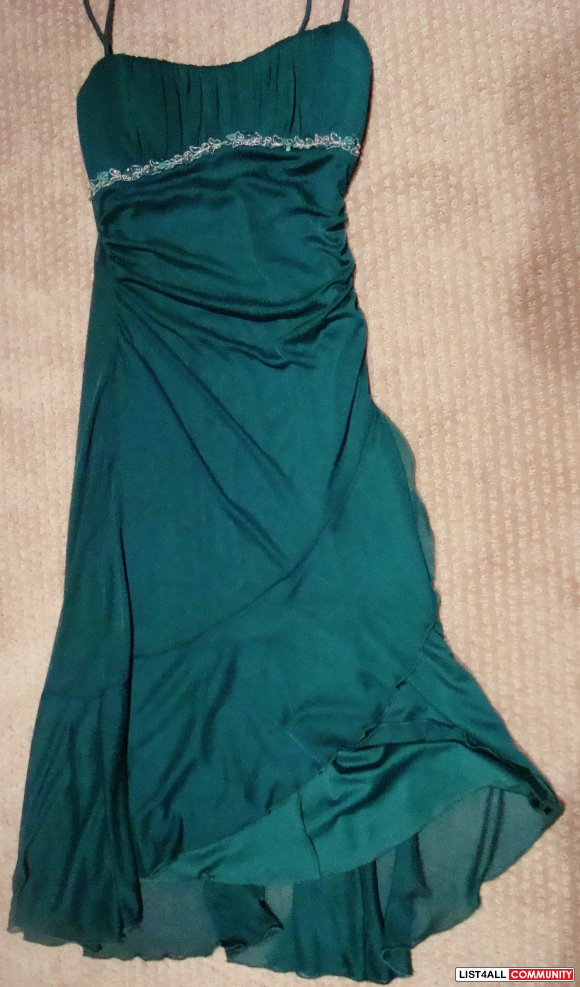 royal green dress, size small