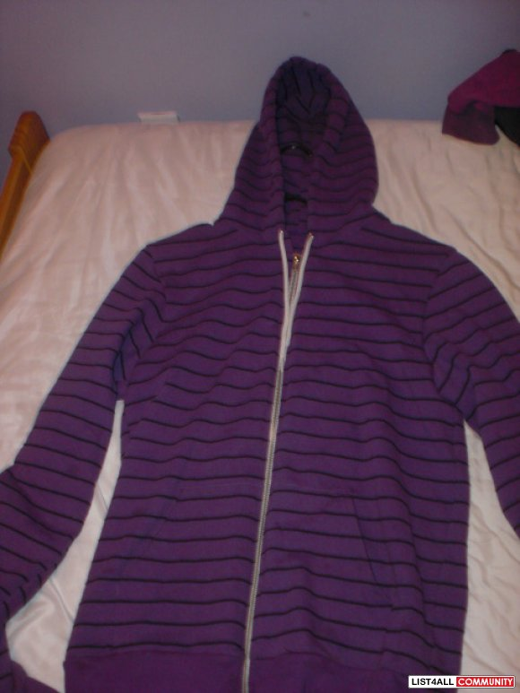 American Apparel Unisex Striped Hoodie