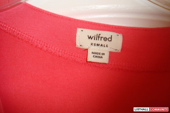 PINK ARITZIA WILFRED DRESS -XS-