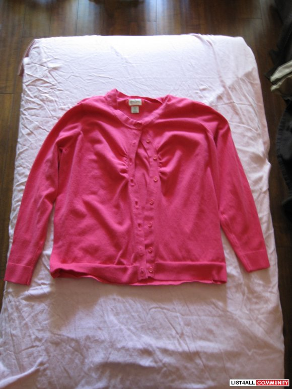 Hot Pink Cardigan - Size L