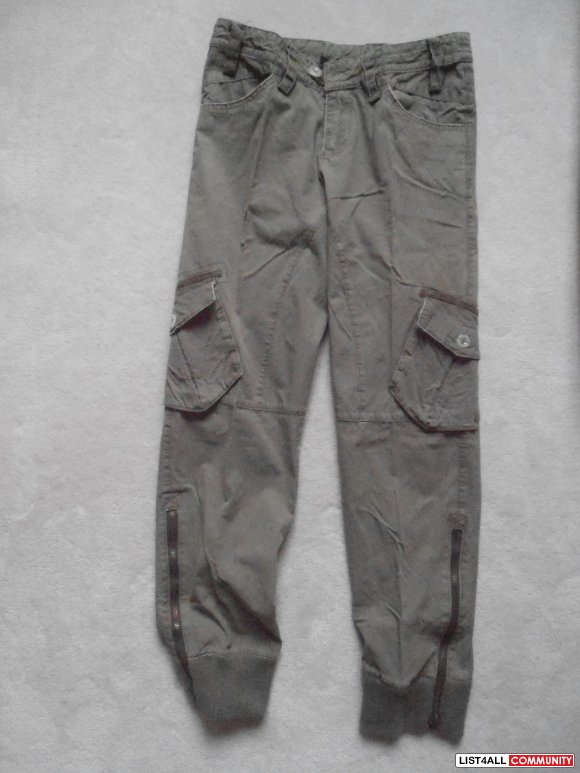 FENCHURCH cargo olive green pants - size 28 - new!