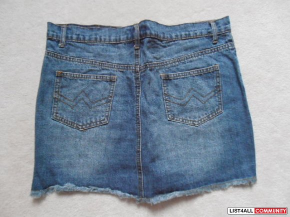 NEWPOINT short denim jean skirt #1 size L asian $15 for 2 $10 for 1