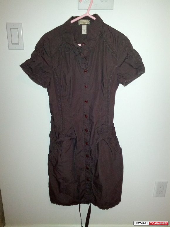 New without tags American Rag brown collar dress