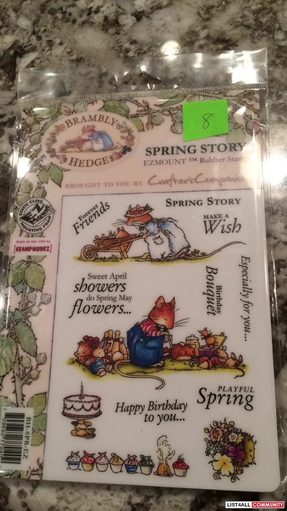"Brambly Hedge ""Spring Story"" rubber clingmount stamps"