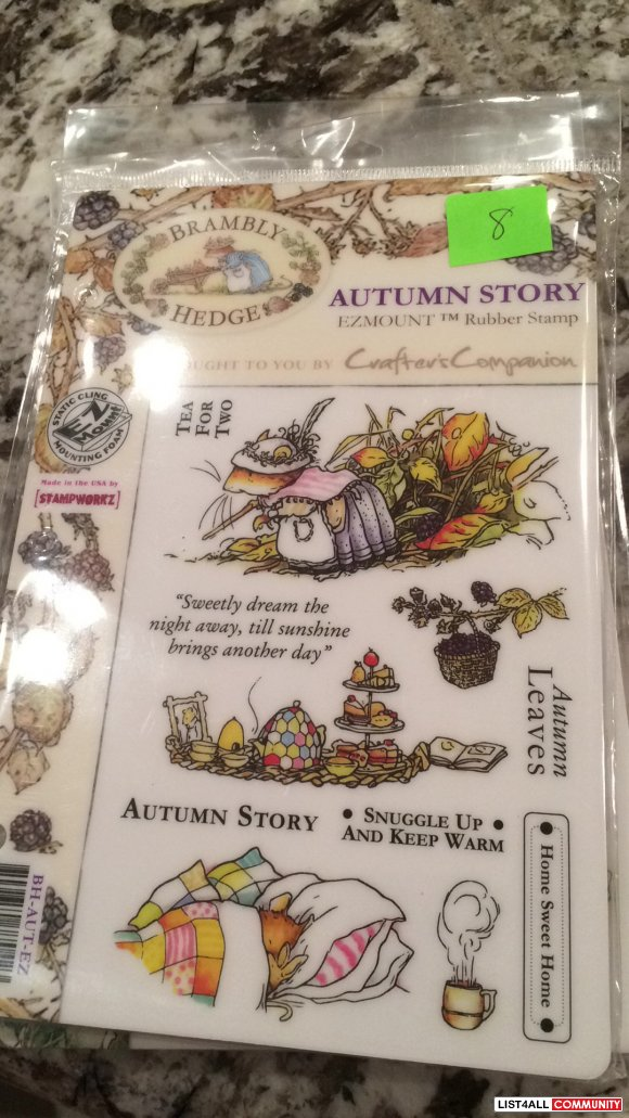 "Brambly Hedge ""Autumn Story"" rubber clingmount stamps"