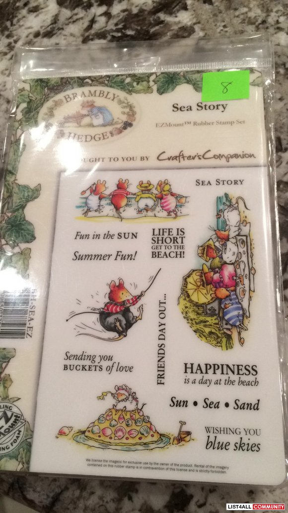 "Brambly Hedge ""Sea Story"" rubber clingmount stamps"