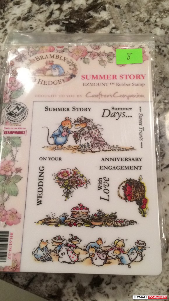 "Brambly Hedge ""Summer Story"" rubber clingmount stamps"