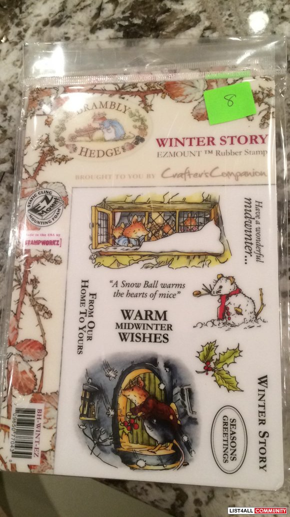 "Brambly Hedge ""Winter Story"" rubber clingmount stamps"