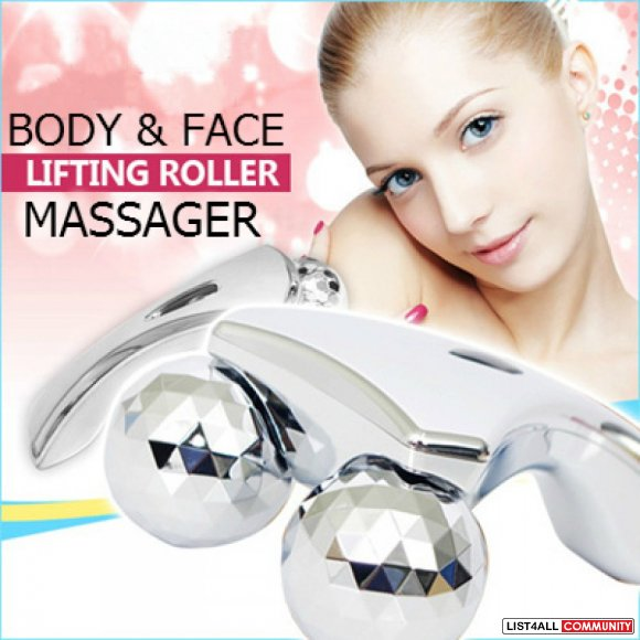 3d Dual Head Massager Solar Micro Roller Slimming Exercise