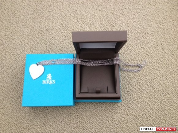 NEW IN BOX BIRKS HEART NECKLACE