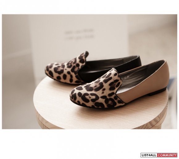 NEW leopard flat shoes size 8.5