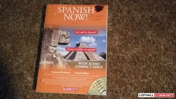 Spanish Now! with audio cds. (missing One cd)