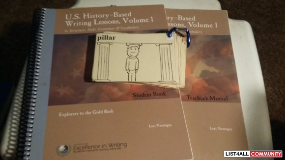 U.S. History Based Writing Lessons Teacher's manual/Student Book