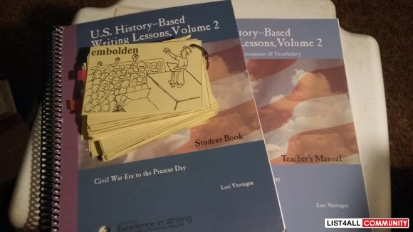 U.S. History Based Writing Lessons Volume 2 Teacher/Student Combo
