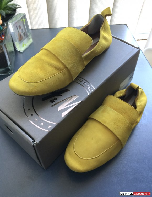 H&M Real Suede Loafers
