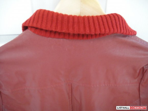 Red leather like jacket