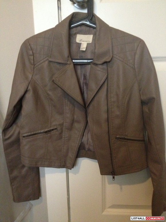 Forever 21 faux leather jacket - small
