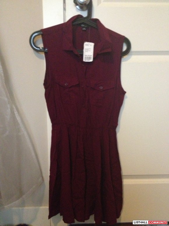 Forever 21 burgundy/maroon dress - small