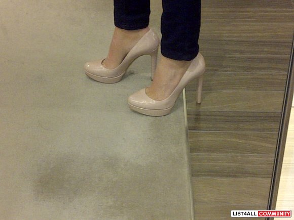 Miu Miu patent leather nude pumps