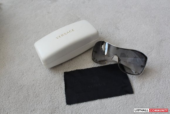 Authentic White Versace Sunglasses