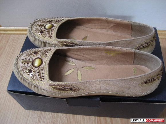 Zara - Jeweled Flats - 39