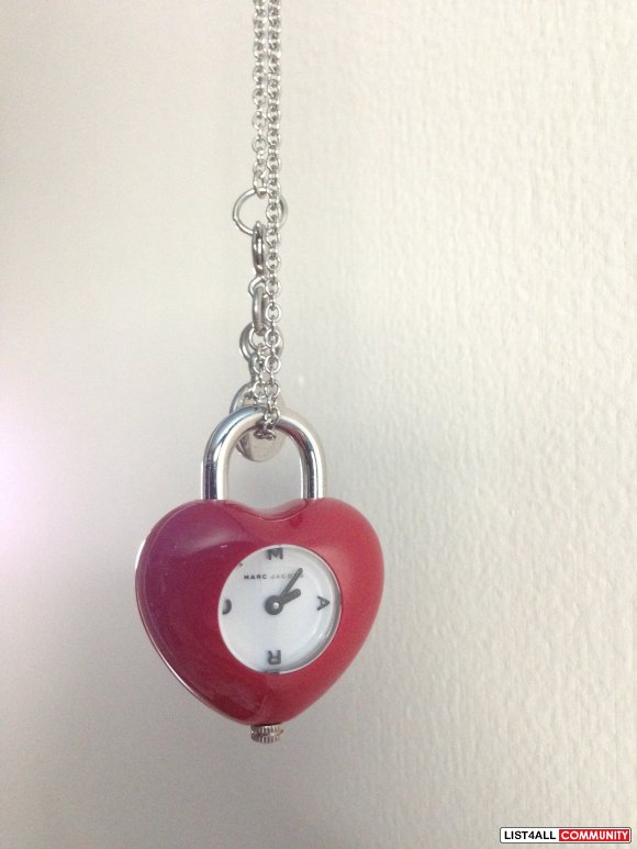 Marc by Marc Jacobs (MBMJ) Heart Necklace Watch - Red