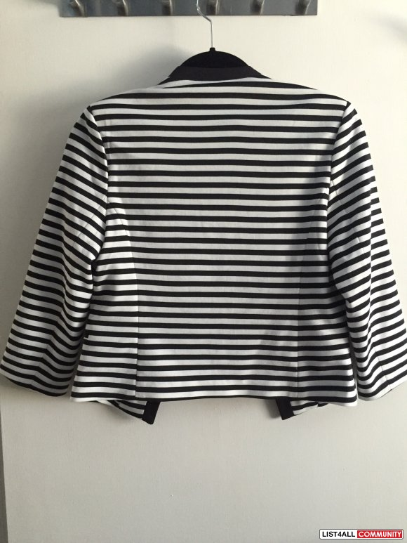 Forever 21 - Black and Whilte Striped Blazer - NWT - S