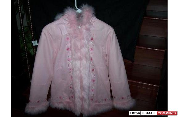 kids size jacket pink color brand new size XL $ 25