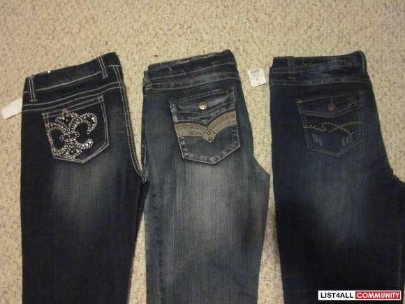 ladies jeans all brand new size13 $ 20 each
