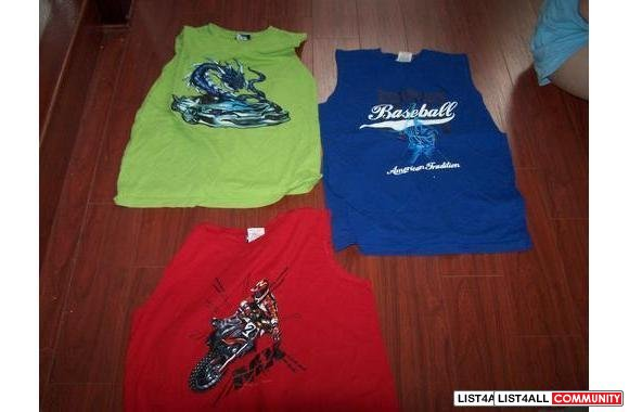 T-SHIRT MUSCLE T-SHIRT age 5 & up size M & L new $ 2 T-SHIRT MUSCLE T