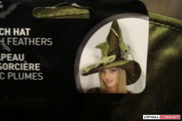 Witch Hat  brand new green black and maroon  $ 10 each