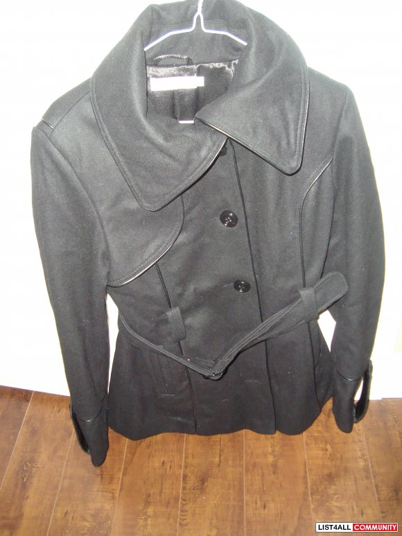 lady's coat black color size M brand new $60 each