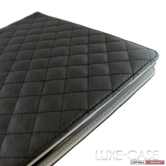 *NEW* IPAD 2,3,4 GEN COVER (pleather) CHANEL INSPIRED QUILTING!