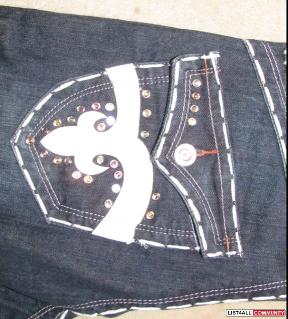 True Religion White Stitching Jeans White Stitching True Religion
