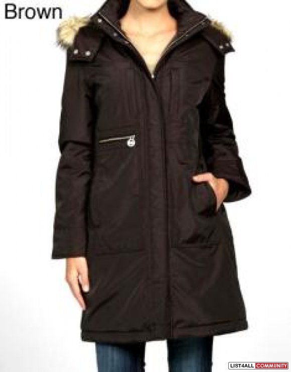 brand new with tag michael kors long fur hooded winter jacket size sma fionas closet list4all. Black Bedroom Furniture Sets. Home Design Ideas
