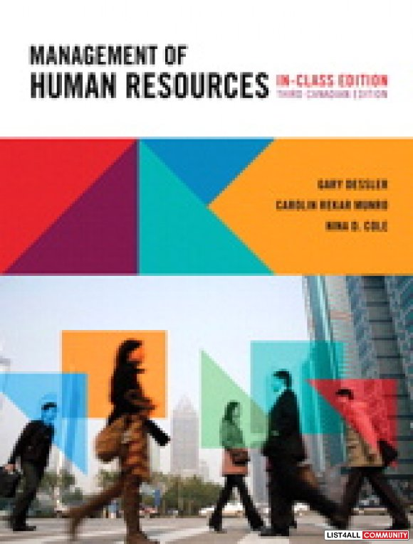 Management of Human Resources, 3rd Canadian Edition