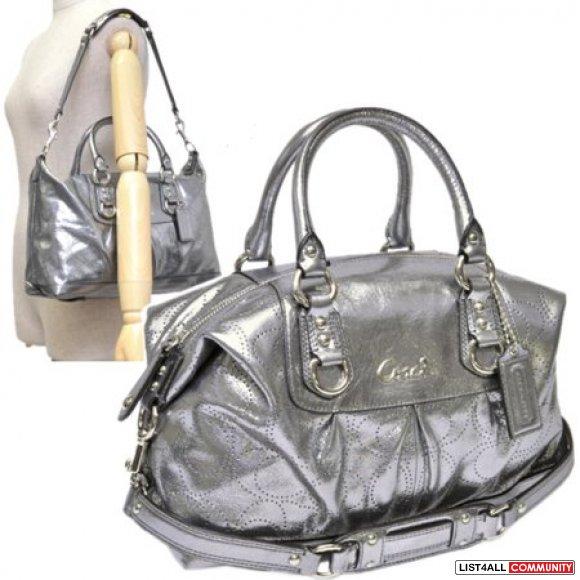 Coach Ashley Perforated Leather Bag Satchel Handbag
