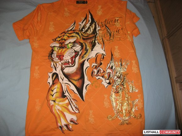 "Christian Audigier ""Tiger"" Tee Size M"