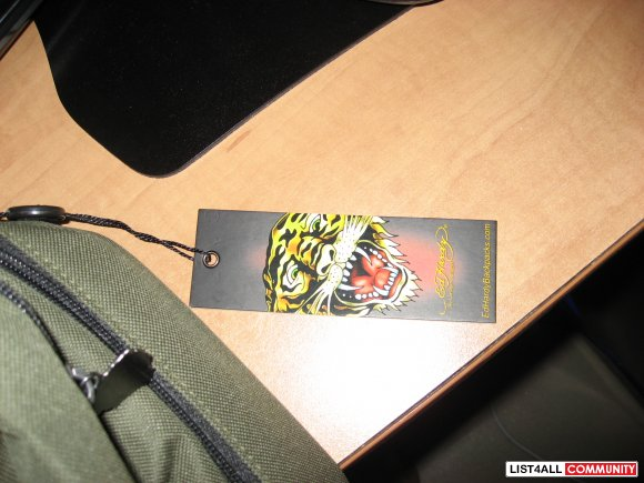 Ed Hardy Backpack with tags