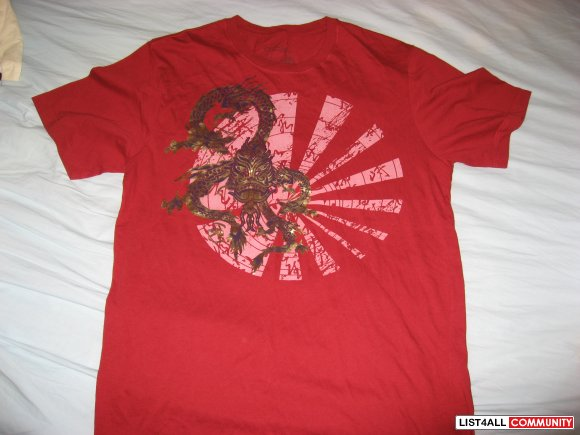 "Triple Five Soul ""Scorpian Dragon Foil"" Tee Size M"