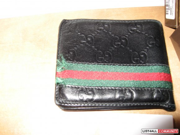 "Gucci ""Guccissima Leather"" Mens Wallet"