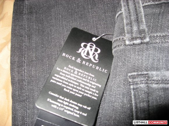 "Rock and Republic ""Colburg"" Skinny Leg Jeans BNWT Size 31"