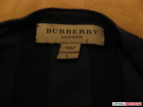 "Burberry London ""Check"" Cardigan Size L"